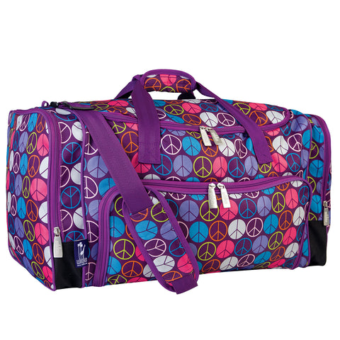 Peace Signs Purple Weekender - 69212 -  Olive Kids Duffel Bags - Nurzery.com