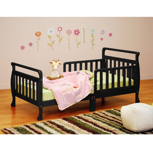 AFG Anna Sleigh Toddler Bed with Safety Rails - 7008 - Black AFG Furniture International Toddler Bed - Nurzery.com - 6