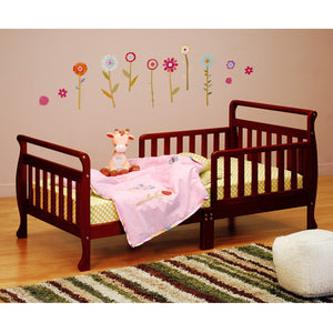 AFG Anna Sleigh Toddler Bed with Safety Rails - 7008 - Cherry AFG Furniture International Toddler Bed - Nurzery.com - 1