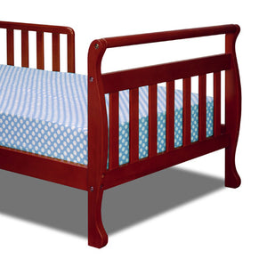 AFG Anna Sleigh Toddler Bed with Safety Rails - 7008 -  AFG Furniture International Toddler Bed - Nurzery.com - 3