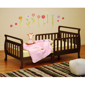AFG Anna Sleigh Toddler Bed with Safety Rails - 7008 - Espresso AFG Furniture International Toddler Bed - Nurzery.com - 10