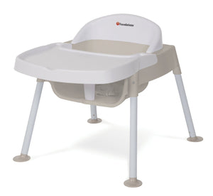 Foundations Secure Sitter Tip and Slip Proof Feeding Chair White/Tan - 4609247 -  Foundations High Chairs & Boosters - Nurzery.com - 1