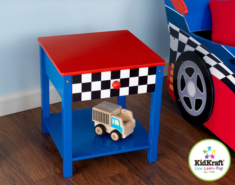 KidKraft Racecar Side Table - 76041 -  Kid Kraft Pretend Play - Nurzery.com