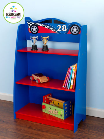 KidKraft Racecar Bookshelf - 76042 -  Kid Kraft Pretend Play - Nurzery.com - 1