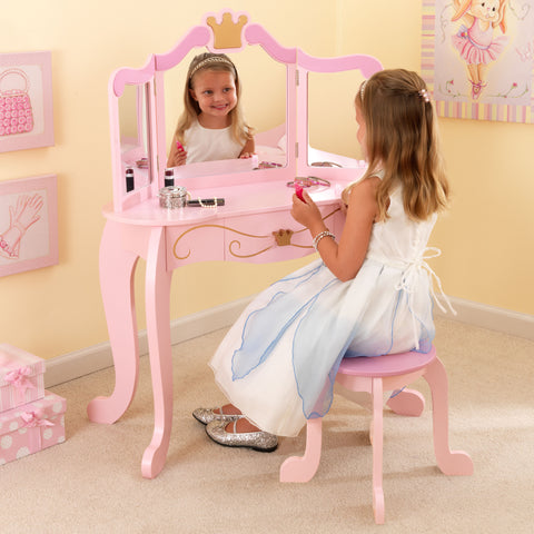 KidKraft New Princess Table & Stool - 76123 -  Kid Kraft Pretend Play - Nurzery.com
