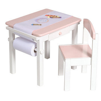 Guidecraft Art Table & Chair Set PINK - G98048 - Default Title Guidecraft Toys - Nurzery.com