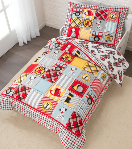 KidKraft Fire Truck Toddler Bedding - 77003 -  Kid Kraft Pretend Play - Nurzery.com