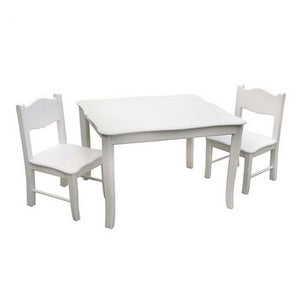 Guidecraft Classic White Table & Chairs - G85702 - Default Title Guidecraft Toys - Nurzery.com