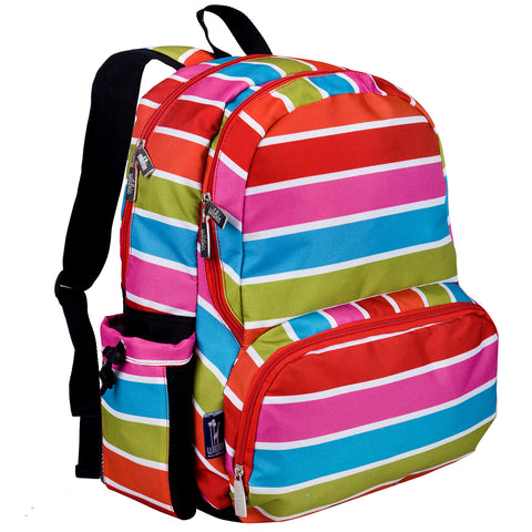 Bright Stripes Megapak Backpack - 79314 -  Olive Kids Backpacks - Nurzery.com