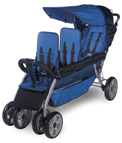 Foundations 3-Child Stroller LX3 Regatta Blue - 4130037 -  Foundations Strollers - Nurzery.com - 1