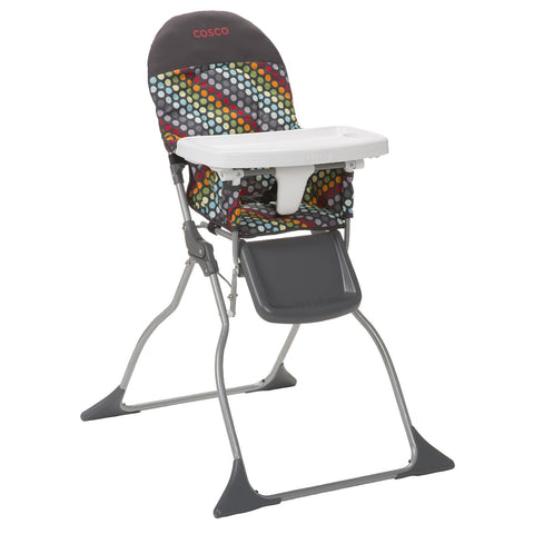 Cosco Simple Fold™ High Chair (Rainbow Dots) HC225DCD -  Cosco High Chairs & Boosters - Nurzery.com