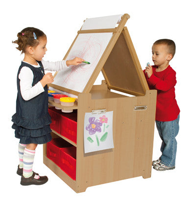 Guidecraft Desk to Easel Art Cart - G51089 - Default Title Guidecraft Toys - Nurzery.com