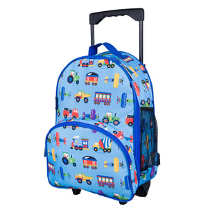 Wildkin - Trains, Planes & Trucks Rolling Luggage - 85079