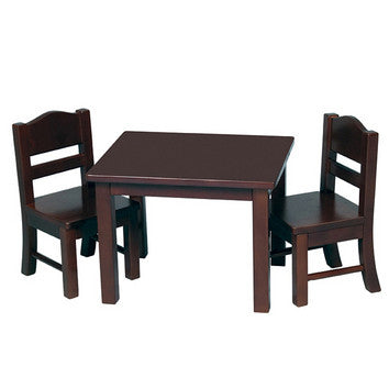 Guidecraft Doll Table & Chair Set Espresso - G98115 - Default Title Guidecraft Toys - Nurzery.com