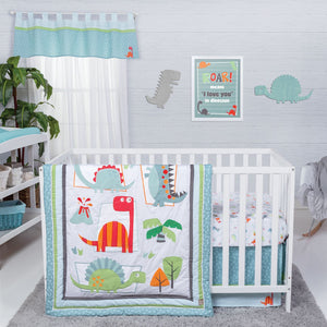 Trend Lab® - Dinosaur Roar - 3 Piece Crib Bedding Set