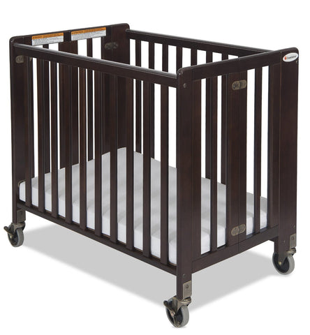 Foundations Hideaway Full Sized Folding Crib Antique Cherry - 1011852 -  Foundations All Cribs - Nurzery.com - 1