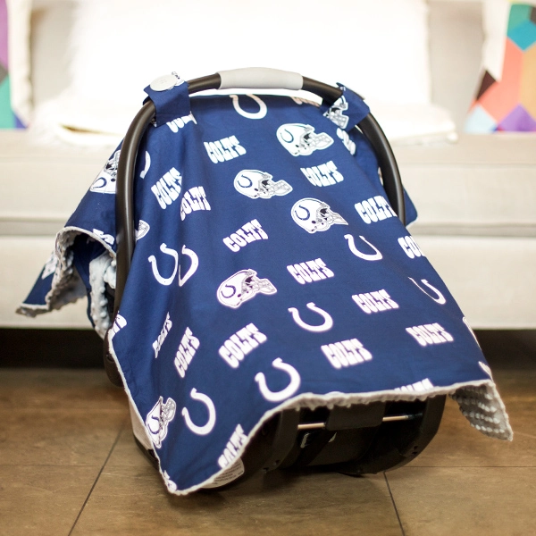 Carseat Canopy - Indianapolis Colts Canopy