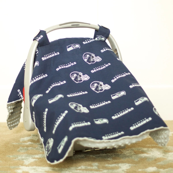 Carseat Canopy - Seattle Seahawks Canopy