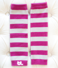 Baby Leggings - Hot Pink Stripe
