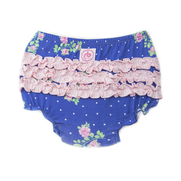 Ruffle Buns Diaper Cover - Forget Me Not