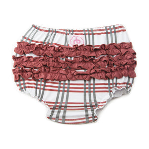 Ruffle Buns Diaper Cover - Scarlet