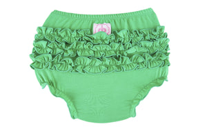 Ruffle Buns Diaper Cover - Kelly Green
