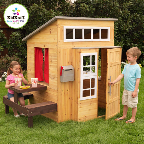 KidKraft Modern Outdoor Playhouse - 00182 -  Kid Kraft Pretend Play - Nurzery.com - 1