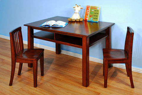 AFG Furniture Newton Kids Table and Chair Set - Mahogany - A88 -  AFG Furniture International Toddler - Nurzery.com - 1