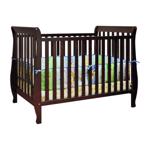 AFG Naomi 4-in-1 Baby Crib with Guardrail - 009 - Cherry AFG Furniture International All Cribs - Nurzery.com - 4