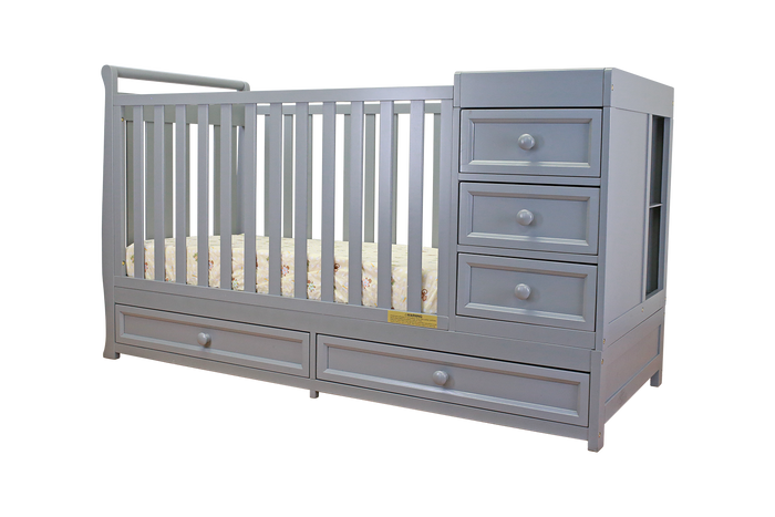 AFG Baby Furniture - Daphne I 2-in-1 Convertible Crib and Changer Combo - 662