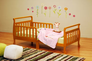 AFG Baby Furniture - Anna Sleigh Toddler Bed with Safety Rails - 7008