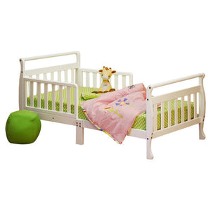 AFG Anna Sleigh Toddler Bed with Safety Rails - 7008 - White AFG Furniture International Toddler Bed - Nurzery.com - 9
