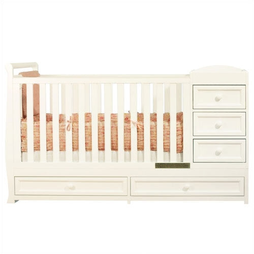 AFG Daphne I 2-in-1 Convertible Crib and Changer Combo - 662 -  sc 1 st  Nurzery.com & Nursery Furniture Sets - Convertible Cribs Changing Tables ...