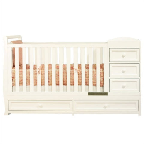 AFG Daphne I 2-in-1 Convertible Crib and Changer Combo - 662 -  AFG Furniture International All Cribs - Nurzery.com - 1
