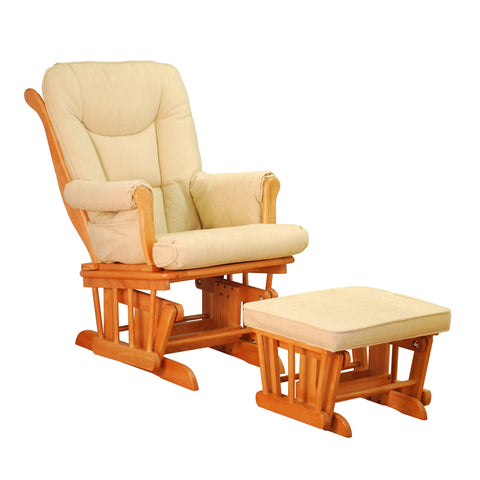 AFG Sleigh Glider and Ottoman - GL7126 - Pecan AFG Furniture International Nursery Furniture - Nurzery.com - 1
