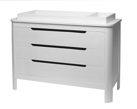 Sorelle Chandler 3 Drawer White Dresser 7510 -  Sorelle All Cribs - Nurzery.com - 1