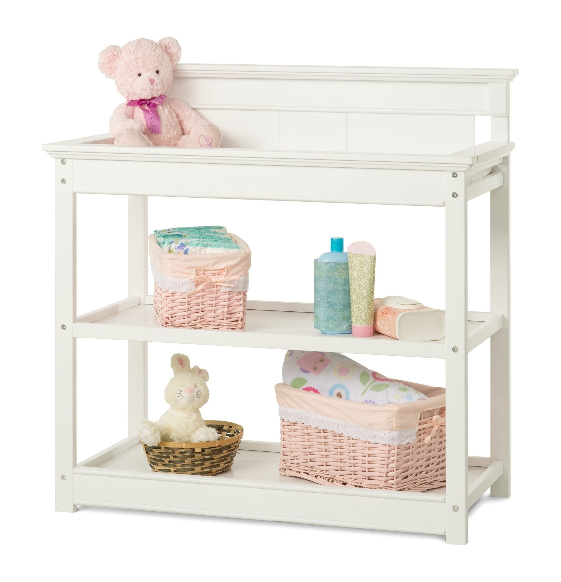 Child Craft Bradford Changing Table F02416   Matte White Child Craft  Nursery Furniture   Nurzery.