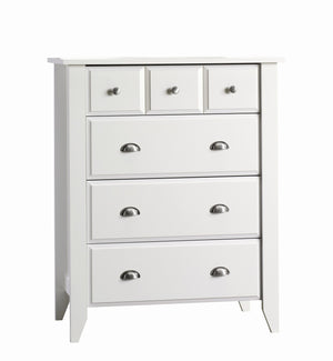 Child Craft Relaxed Traditional Shoal Creek 4 Drawer Chest F04702.07 - Matte White Child Craft Dresser - Nurzery.com - 1