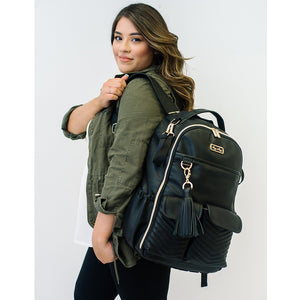 Itzy Ritzy - Jetsetter Black Boss Backpack™ Diaper Bag