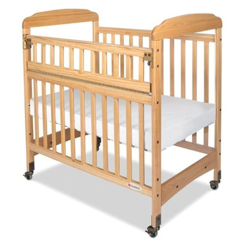 Foundations Serenity Safereach Clearview Compact Crib w/ Mattress Natural - 1742040 -  Foundations All Cribs - Nurzery.com
