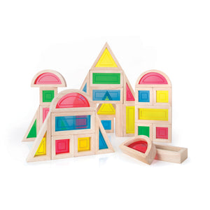 Guidecraft Rainbow Blocks 30 Piece Set - G3016