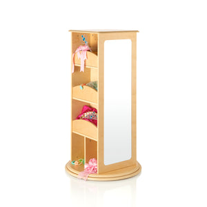 Guidecraft - Rotating Dress Up Storage Natural - G99302