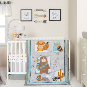 Trend Lab® - Lodge Buddies - 3 Piece Crib Bedding Set
