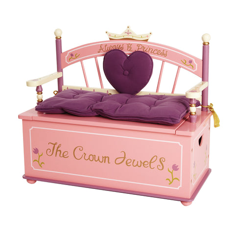 Levels of Discovery Princess Bench Seat w/ Storage - LOD20007 -  Levels of Discovery Furniture - Nurzery.com - 1