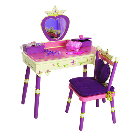 Levels of Discovery Princess Vanity Table & Chair Set - LOD20021 -  Levels of Discovery Furniture - Nurzery.com - 1