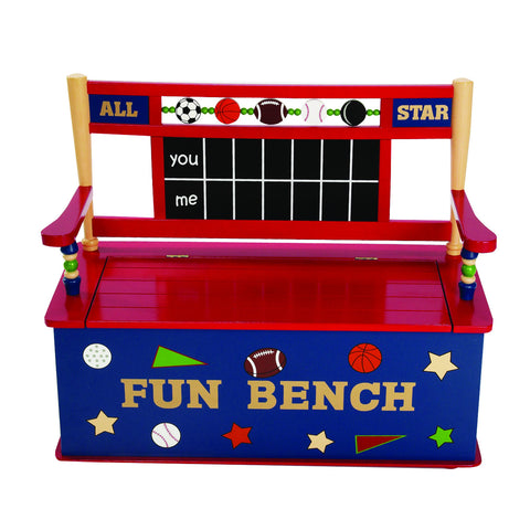 Levels of Discovery All Star Sports Bench Seat w/ Storage - LOD20023 -  Levels of Discovery Furniture - Nurzery.com - 1