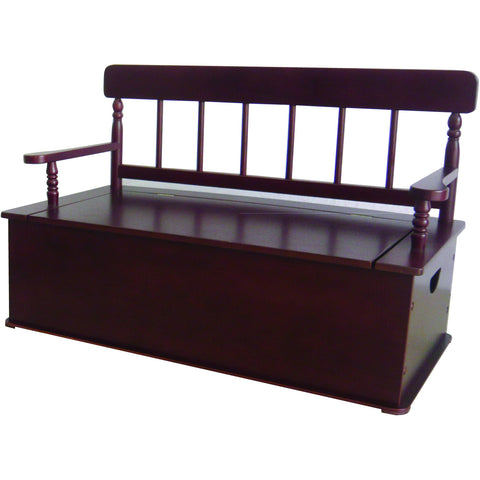 Levels of Discovery Cherry Finish Bench Seat w/ Storage - LOD33055 -  Levels of Discovery Furniture - Nurzery.com