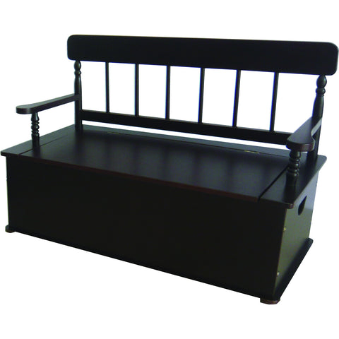 Levels of Discovery Espresso Bench Seat w/ Storage - LOD33056 -  Levels of Discovery Furniture - Nurzery.com