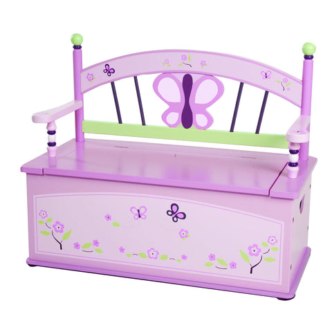 Levels of Discovery Sugar Plum Bench Seat w/ Storage - LOD70004 -  Levels of Discovery Furniture - Nurzery.com