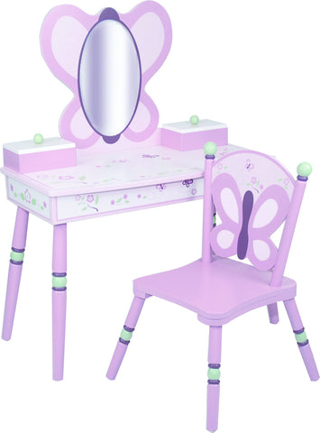 Levels of Discovery Sugar Plum Vanity & Chair Set - LOD70006 -  Levels of Discovery Furniture - Nurzery.com